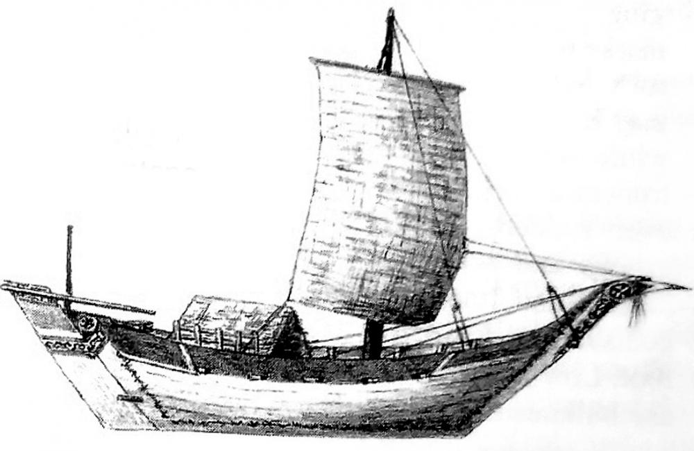 Swahili sailing boat ship Mtepe East Africa precolonial history heritage sea going vessel Indian ocean trade.jpg