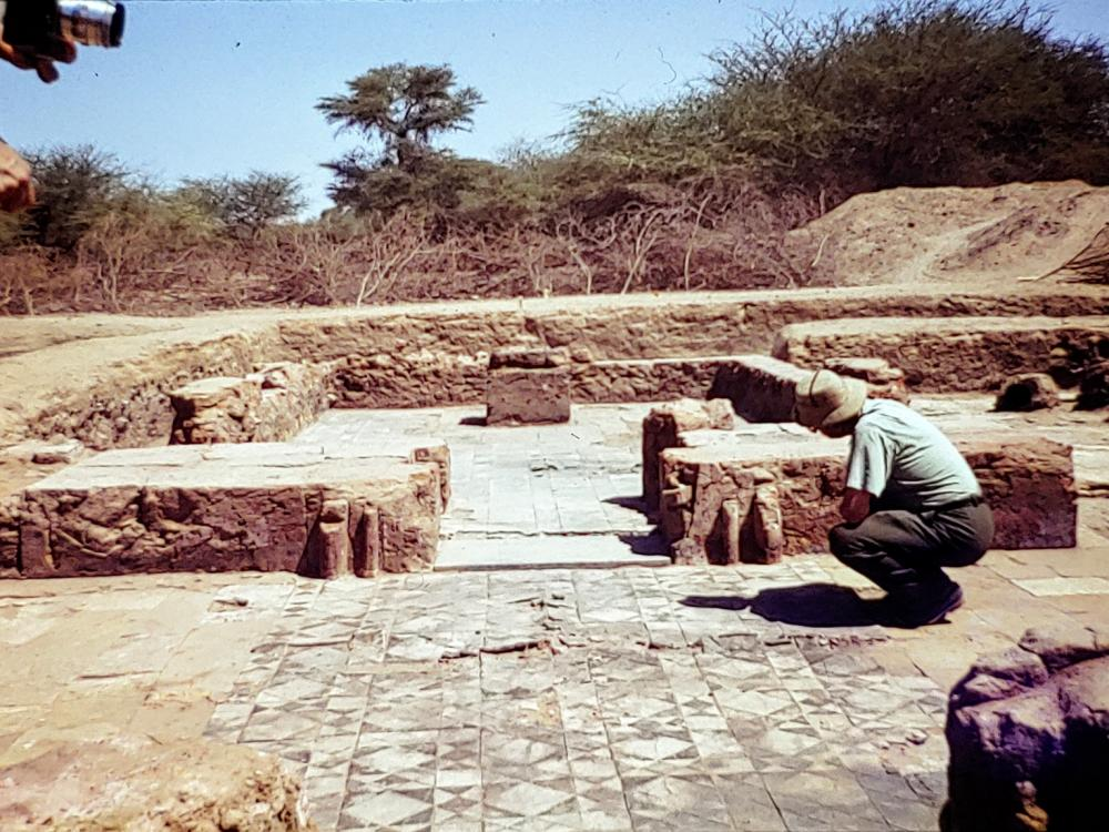 hintze on the tiled floor meroe Kingdom of Kush Kushite Nubia Sudan history.jpg