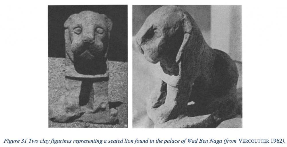 Kingdom of Kush Kushite lion sculpture clay terracotta Wad Ben Naqa statue statuette.jpg