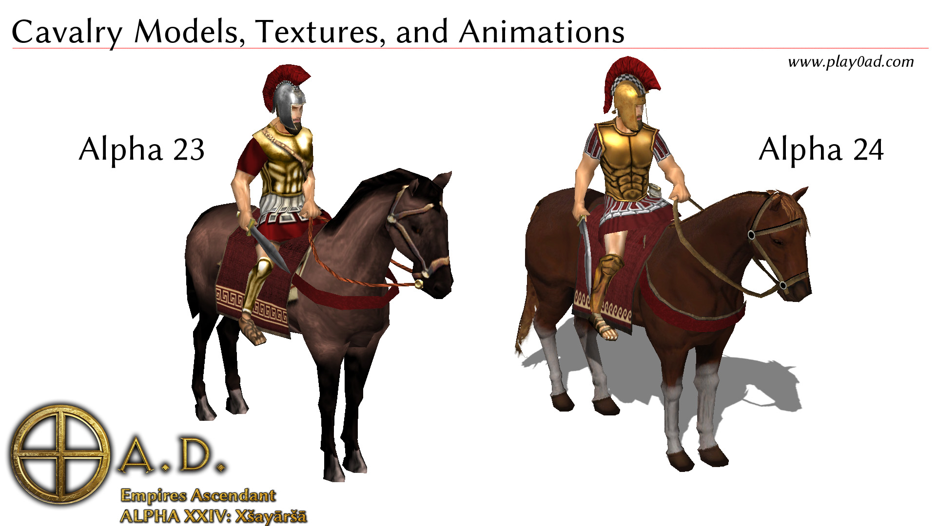 Cavalry Models, Textures, and Animations