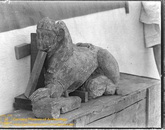 Fragmentary stone sphinx found at Hamadab Meroitic Kush Kingdom Kushite Nubia Sudan history statue sculpture.jpg