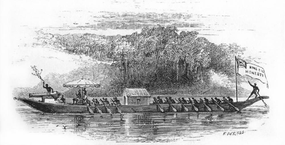 King Eyo state canoe cannon artillery Creek Town Calabar River Nigeria 3.jpg