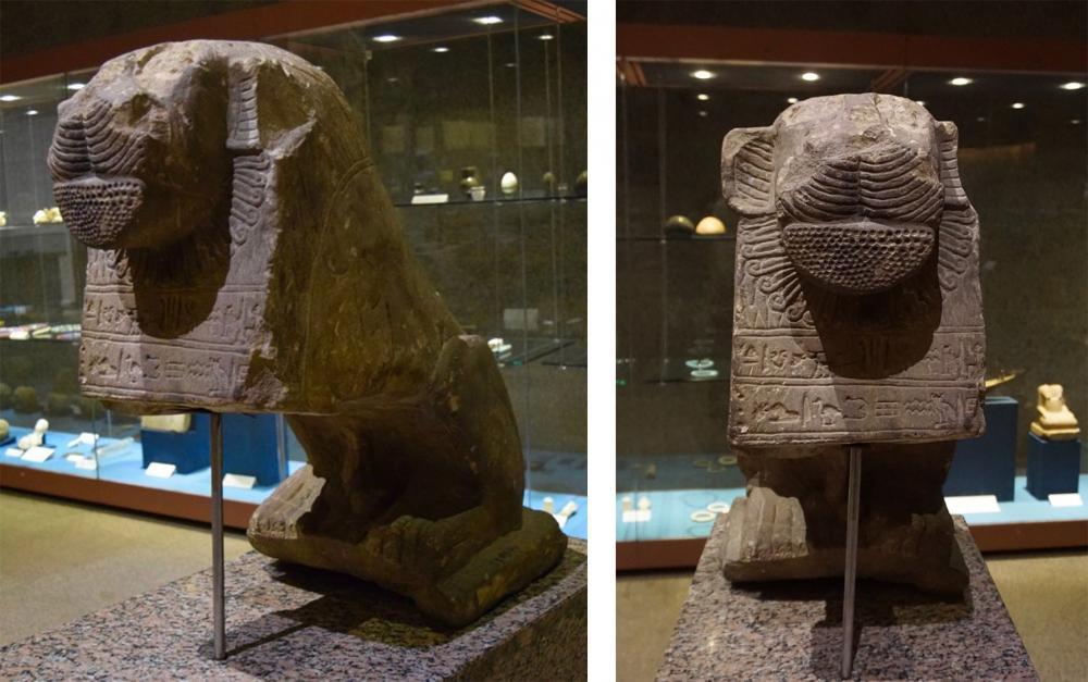Kingdom of Kush Kushite Nubia Sudan Africa history lion statues stone sculpture Statue+of+a+lion+Nubian+Museum+Aswan.jpg