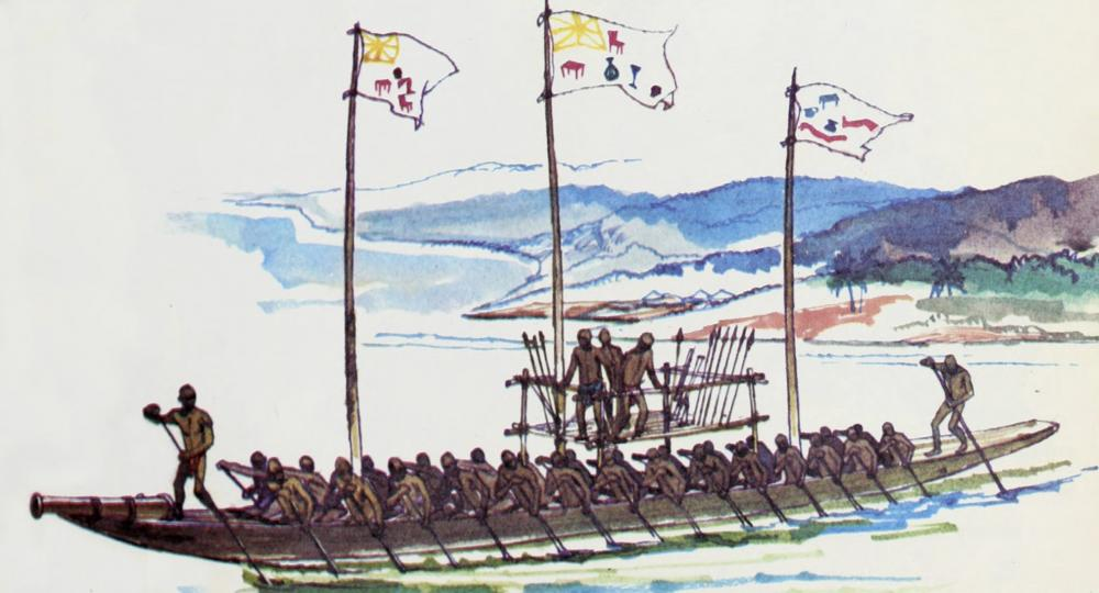 Eboe Abo Canoe Niger river Nigeria Igbo Abö War canoe navy cannon artilery africa history Nigeria military river riverine naval.jpg